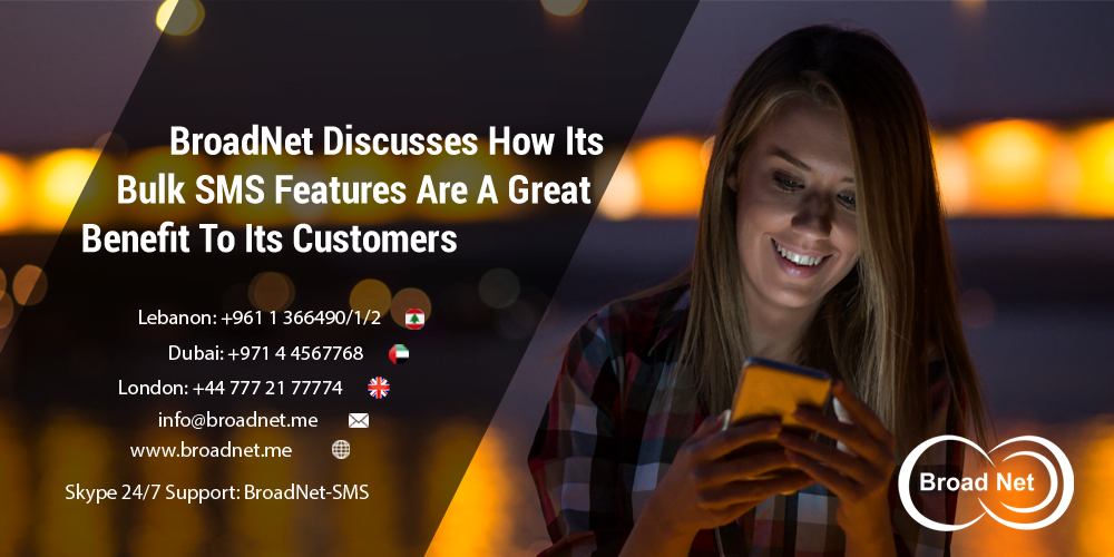 BroadNet Discusses How Its Bulk SMS Features Are A Great Benefit To Its Customers