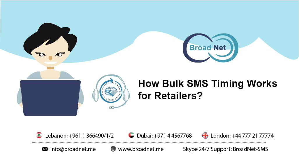 How Bulk SMS Timing Works for Retailers?