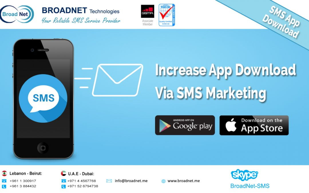 BroadNet Technologies Launches a New Service Increase app Downloads by SMS Campaign