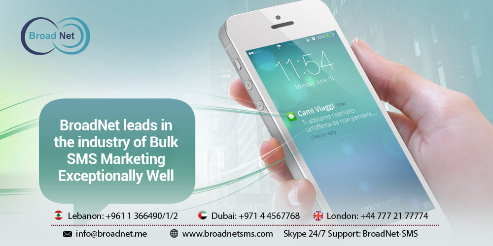 Broadnet Leads In The Industry of Bulk SMS Marketing Exceptionally Well
