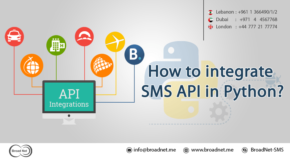 How to integrate SMS API in Python?