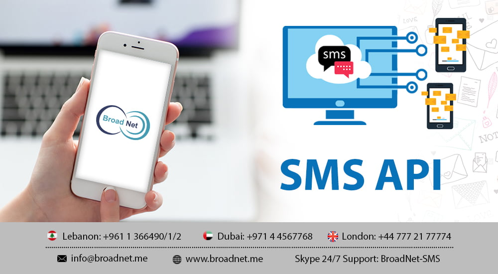 How SMS API is instrumental in setting off SMS in server side?