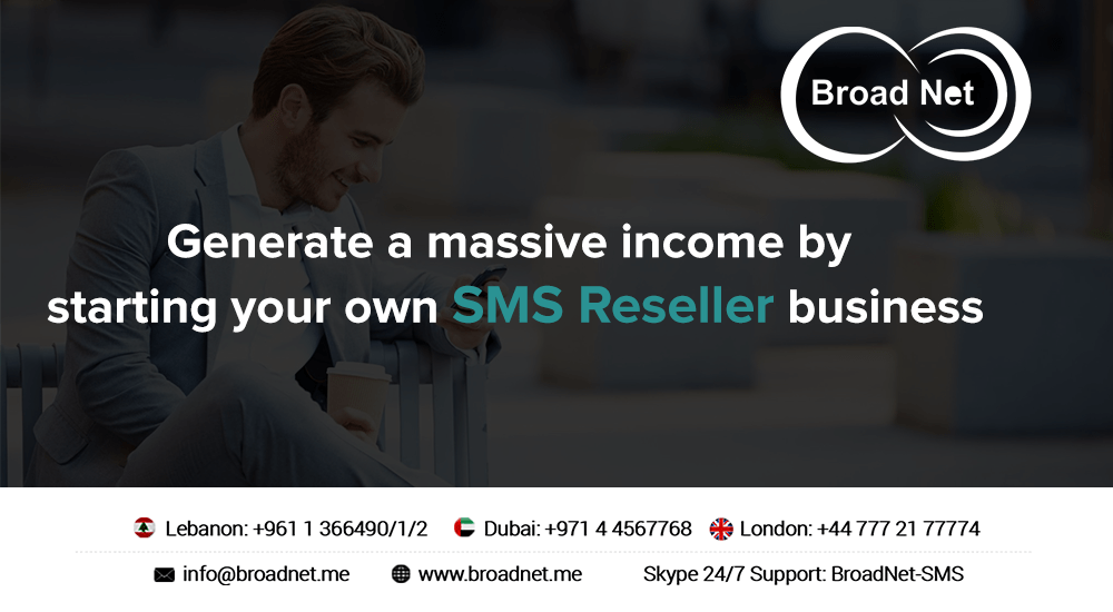 Generate a massive income by starting your own SMS Reseller business