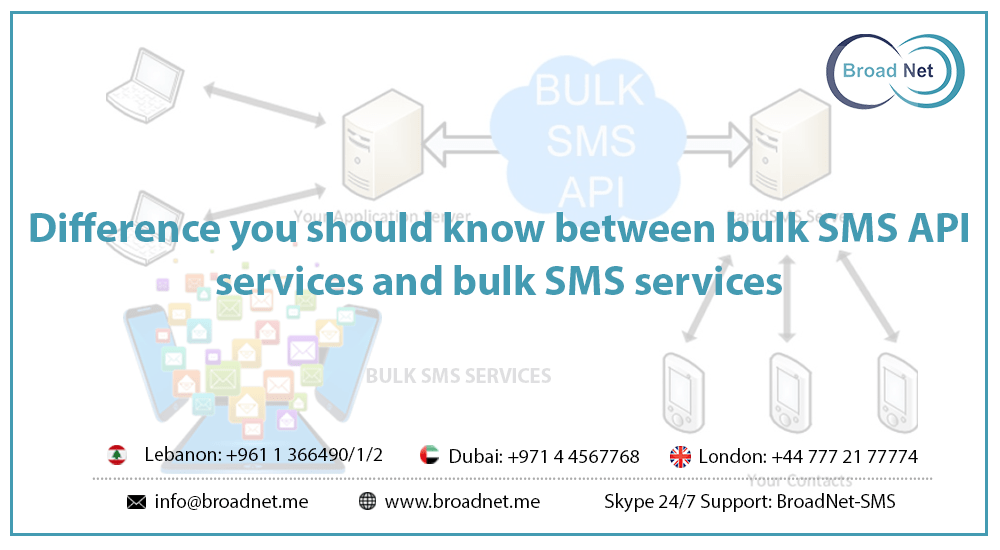 Difference you should know between Bulk SMS API Services and Bulk SMS Services