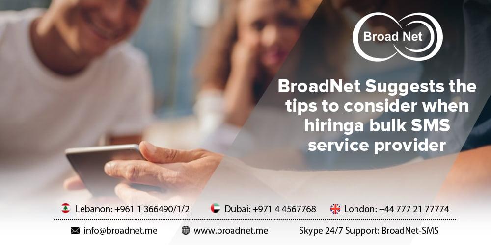 hiring a bulk SMS service provider