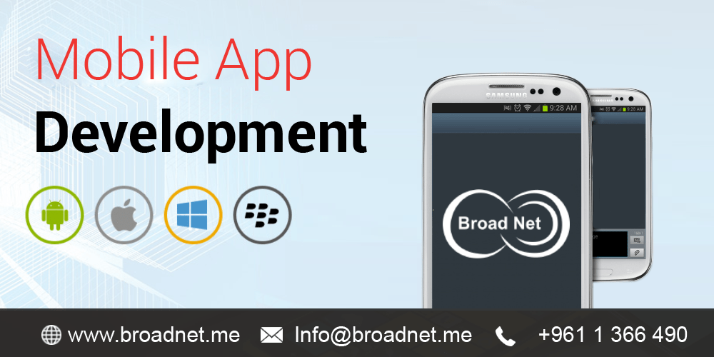 BroadNet – A recognized champion at developing mobile apps for iOS, Blackberry, Windows and Android mobile devices