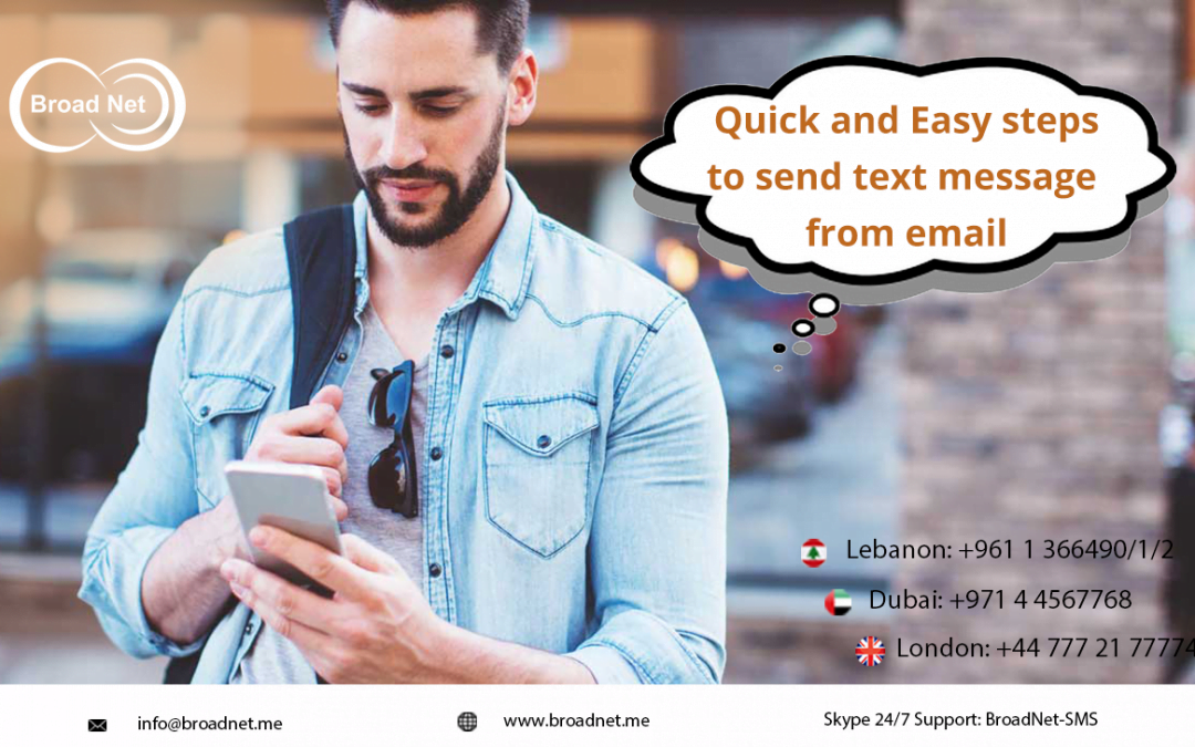 Quick and Easy steps to send text message from email