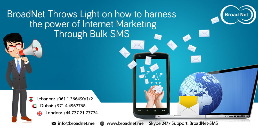 BroadNet Throws Light on how to harness the power of Internet Marketing Through Bulk SMS Software