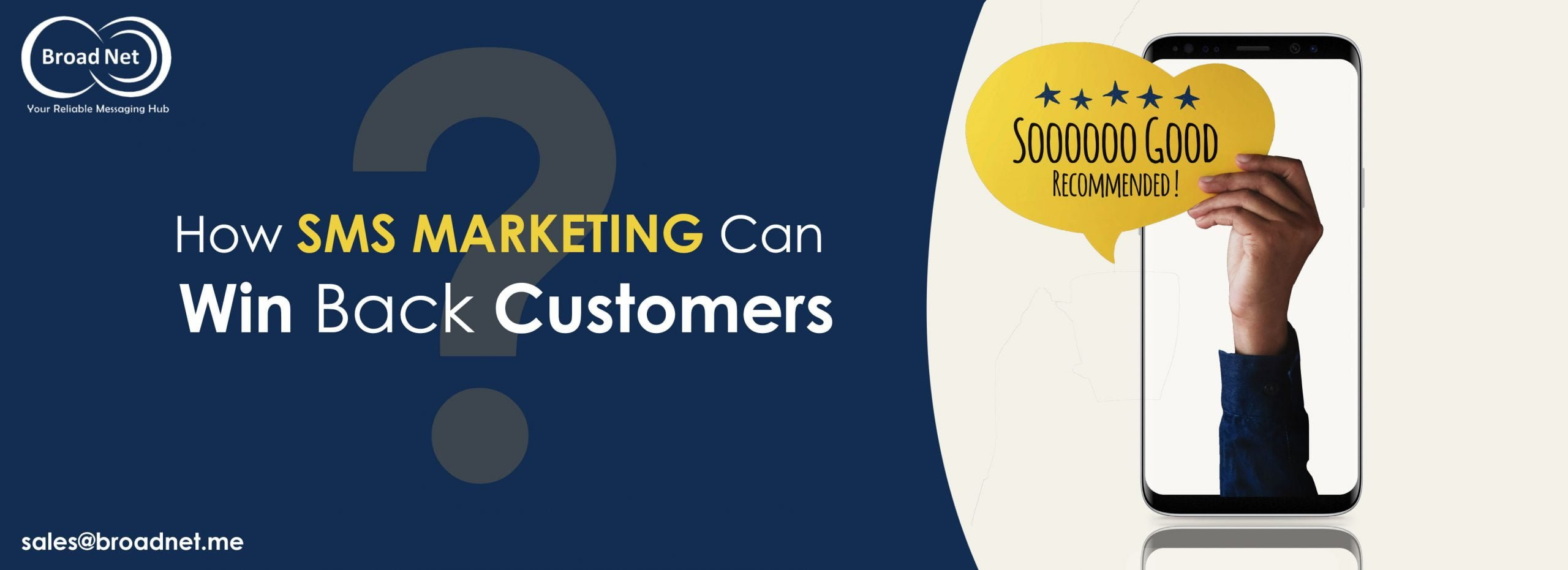 HOW SMS MARKETING CAN WIN BACK CUSTOMERS